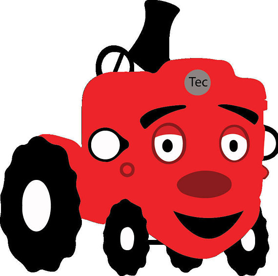 Tec clipart clipart royalty free Tec the Tractor BabyFirst s for cutting and printing Layered ... clipart royalty free