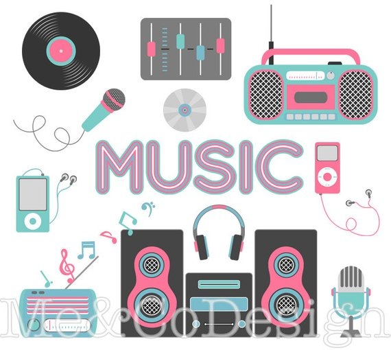 Tech design clipart image download Music Lover Clipart, Fun Tech Clipart, Accessory Clipart ... image download
