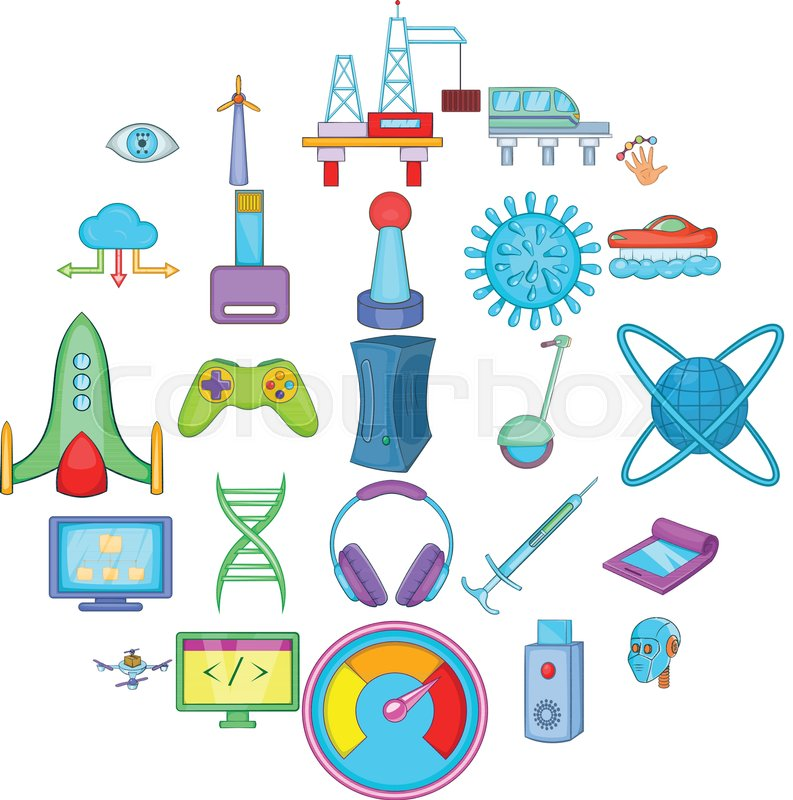 Tech industry clipart image library High tech industry technology icons ... | Stock vector ... image library