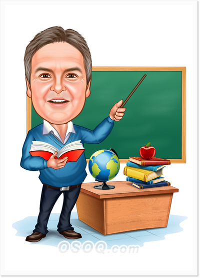 Techers teaching college class clipart vector library library Teacher Caricature | Osoq.com vector library library