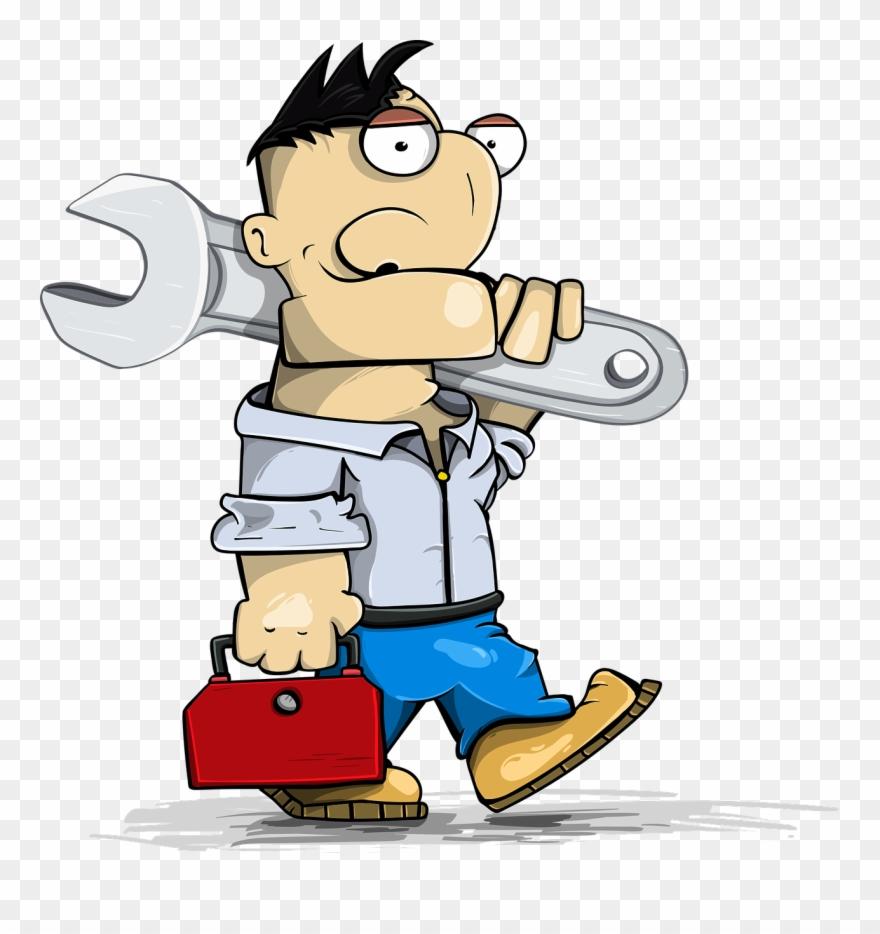 Technician clipart jpg black and white stock Master Engineer With Wrench - Technician Clipart (#320169 ... jpg black and white stock