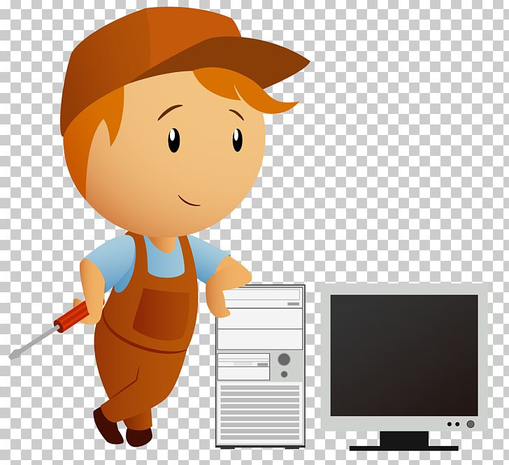 Technician clipart svg library library Computer Repair Technician Cartoon PNG, Clipart, Car Repair ... svg library library