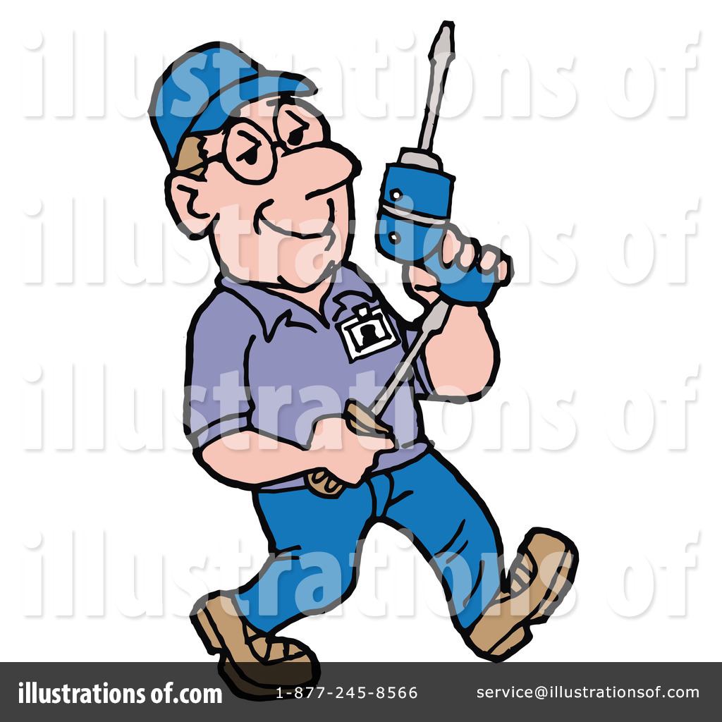 Technician clipart graphic black and white library Technician Clipart #225660 - Illustration by LaffToon graphic black and white library