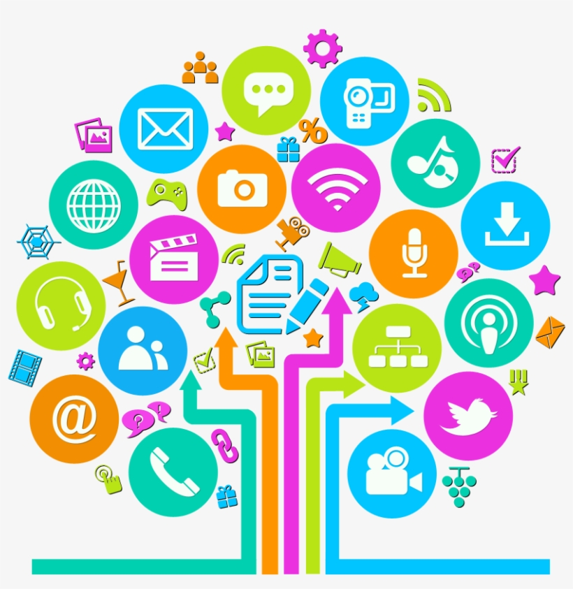Technology and social media clipart png library library 52fb0ca80934384d6a000290 Social Media Tree Icon - Technology ... png library library