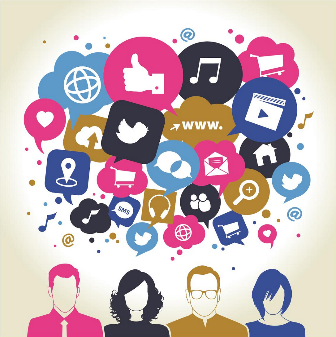 Technology and social media clipart vector library stock Part Two) Technology & Human Insight: Social Media vector library stock