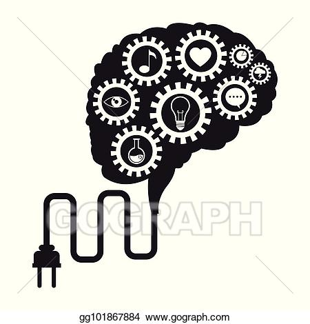 Technology and social media clipart clip art freeuse download Vector Clipart - Brain technology gears social media. Vector ... clip art freeuse download