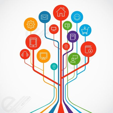 Tecnologia clipart clipart free stock Free Technology growth tree concept illustrations Clipart ... clipart free stock