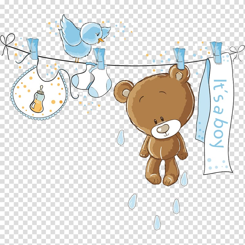 Teddy bear baby shower clipart clip art black and white Bear hanging on rope illustration, Wedding invitation Baby ... clip art black and white
