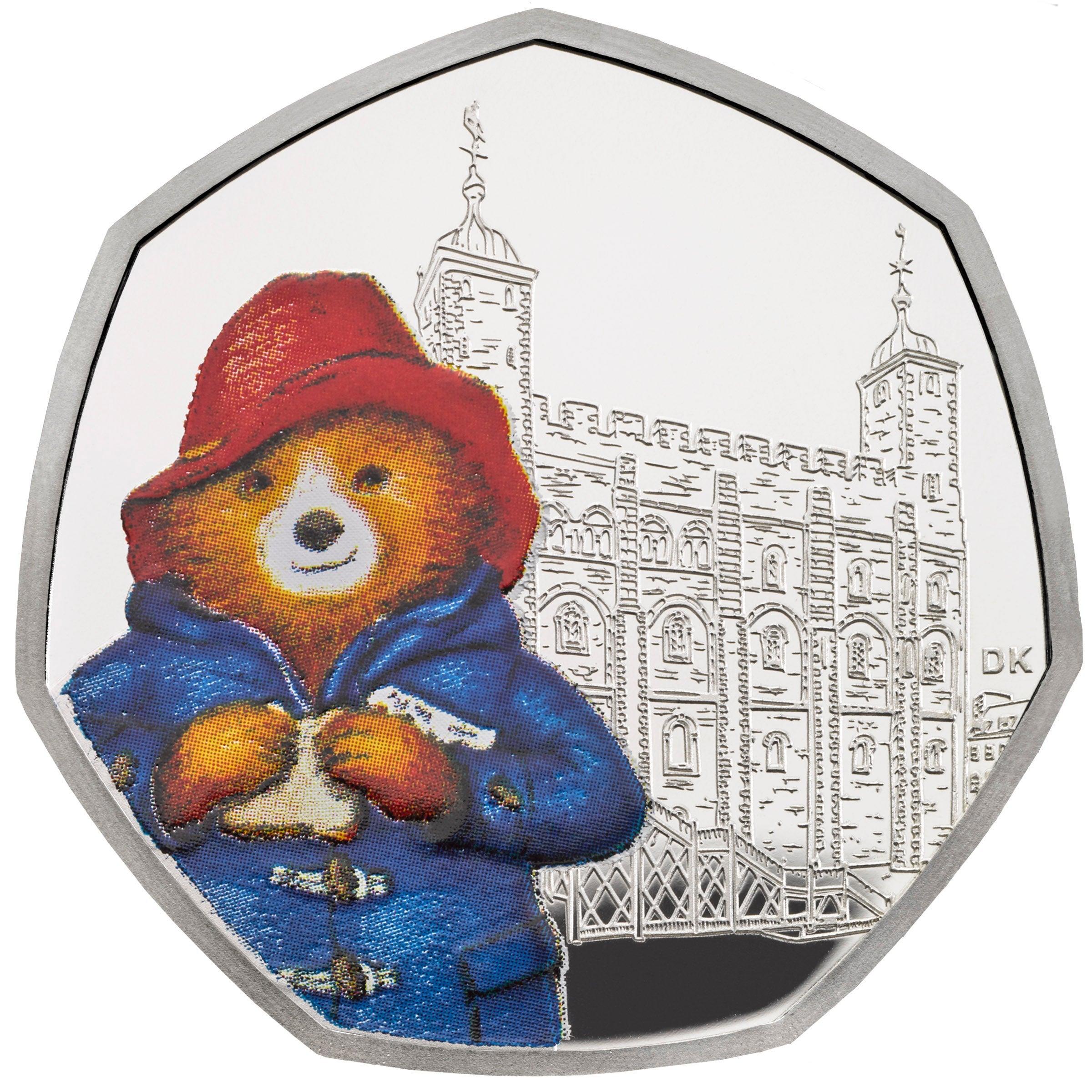 Teddy bear coins clipart