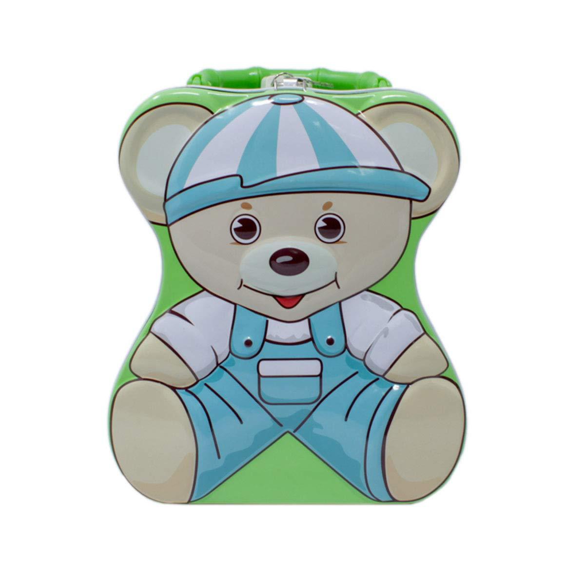 Teddy bear coins clipart royalty free Buy Tootpado Piggy Bank for Kids Teddy Bear - Green ... royalty free