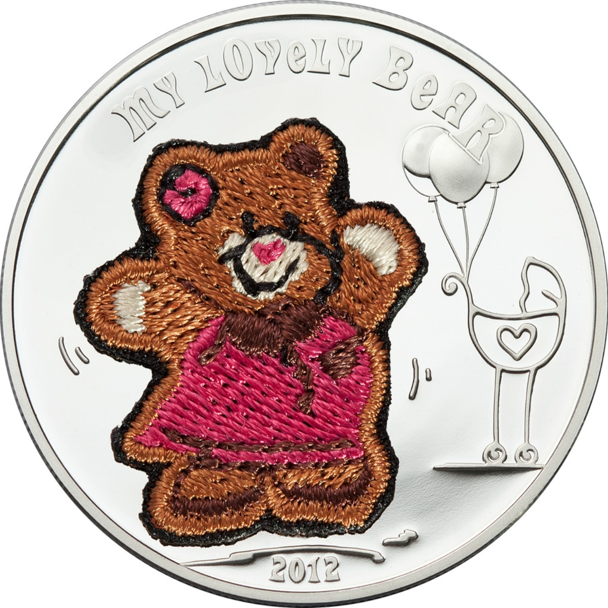 Teddy bear coins clipart banner transparent library 2012 $5 My Lovely Bear - Sterling Silver Coin banner transparent library
