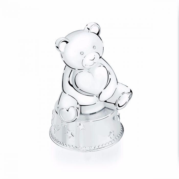 Teddy bear coins clipart clipart library Birks Silver Bear Music Box and Coin Bank clipart library