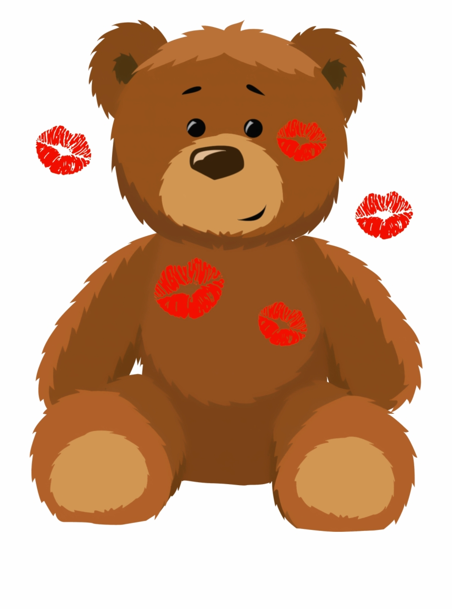 Teddy bear day clipart png free Cute Bear With Kisses Png Clipart Picture Clip Art ... png free