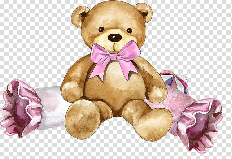 Teddy bear gender reveal clipart