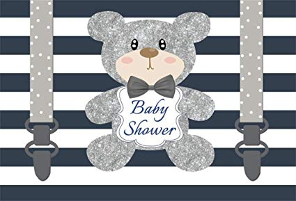 Teddy bear gender reveal clipart graphic free stock Amazon.com : Yeele 5x3ft Photography Backgrounds Baby Shower ... graphic free stock