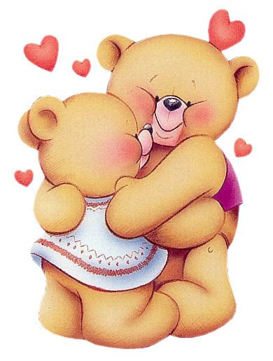 Teddy bear hug clipart