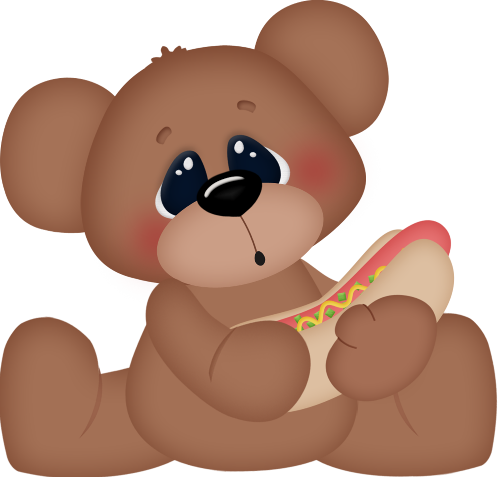 Teddy bear w apple clipart image black and white stock Teddy Bear Picnic 6.png | Pinterest | Teddy bear, Bears and Food clipart image black and white stock