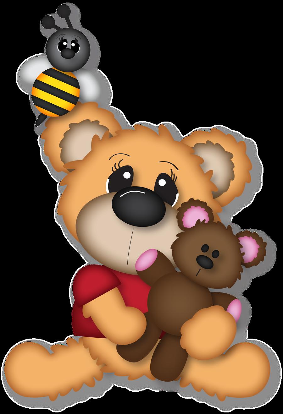 Teddy bear w apple clipart jpg transparent stock Minus - Say Hello! | Pooh | Pinterest | Clip art, Bears and Bear clipart jpg transparent stock