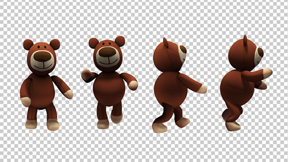 Teddy bear walking clipart svg transparent library Teddy Bear - Walk And Run Animations (4-Pack) svg transparent library