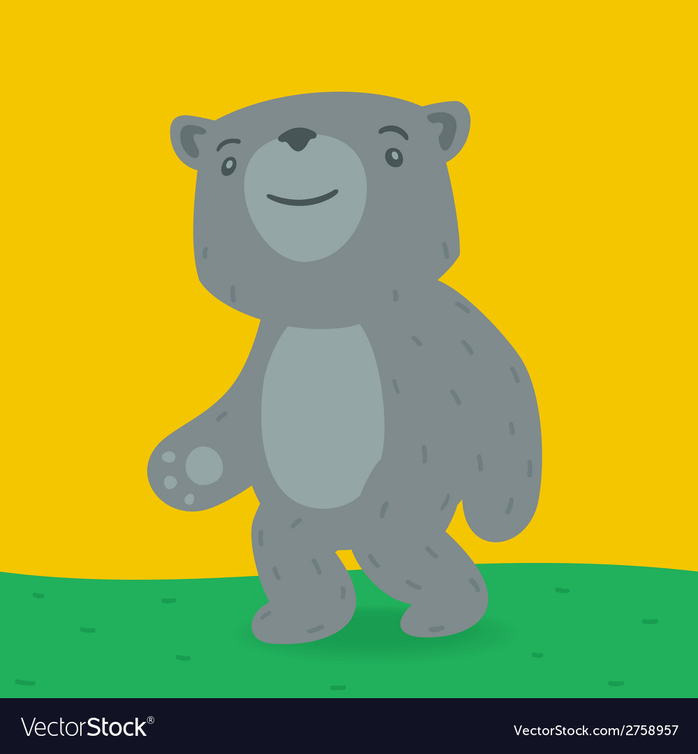 Teddy bear walking clipart clipart library Toy bear walking on the grass clipart library
