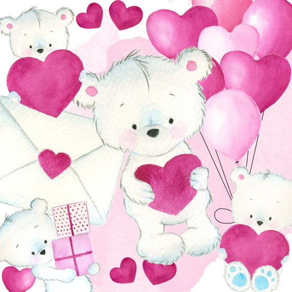 Teddy bears in love clipart clip art freeuse stock Love bears clipart, Valentines clipart, love clipart, heart ... clip art freeuse stock