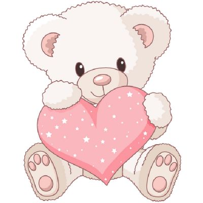 Teddy bears in love clipart graphic Teddy bear bears with love hearts cartoon clip art bears ... graphic
