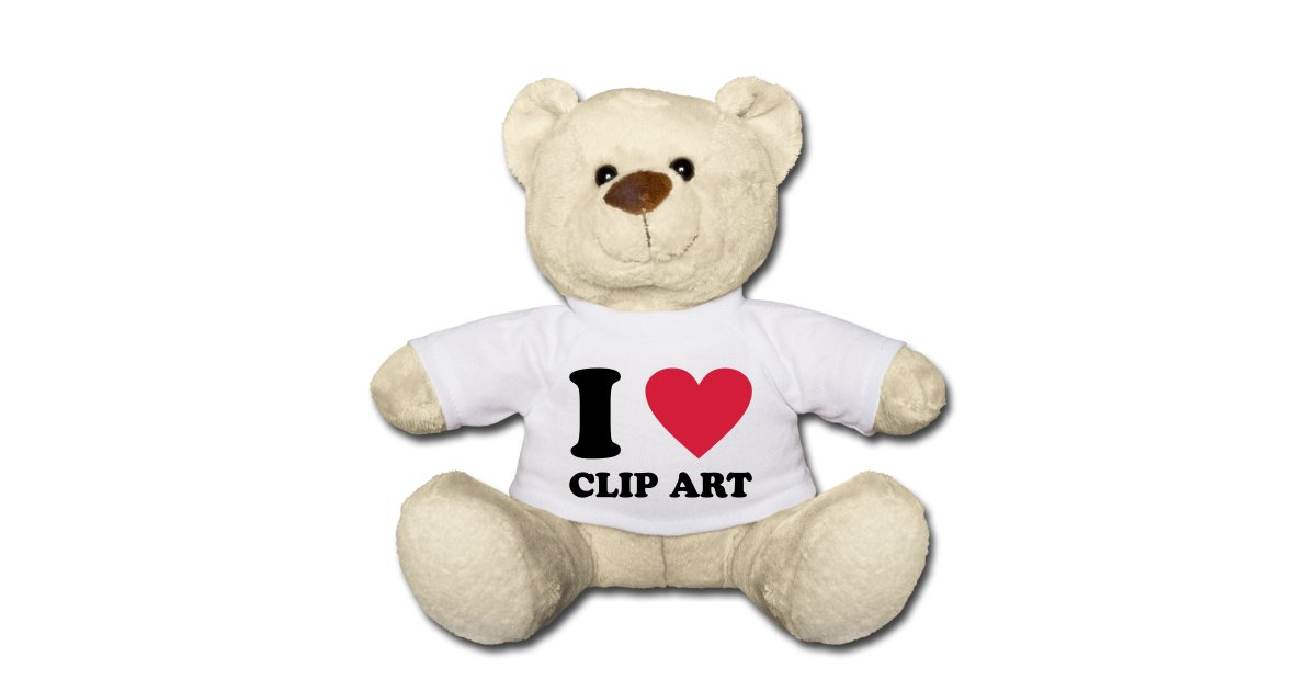 Teddy bears in love clipart jpg black and white library awesomefunnytees | I love clip art - Teddy Bear jpg black and white library