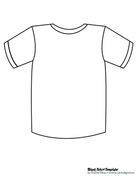 Tee shirt template clipart graphic royalty free download Blank T-Shirt Template Clip Art + PDF graphic royalty free download