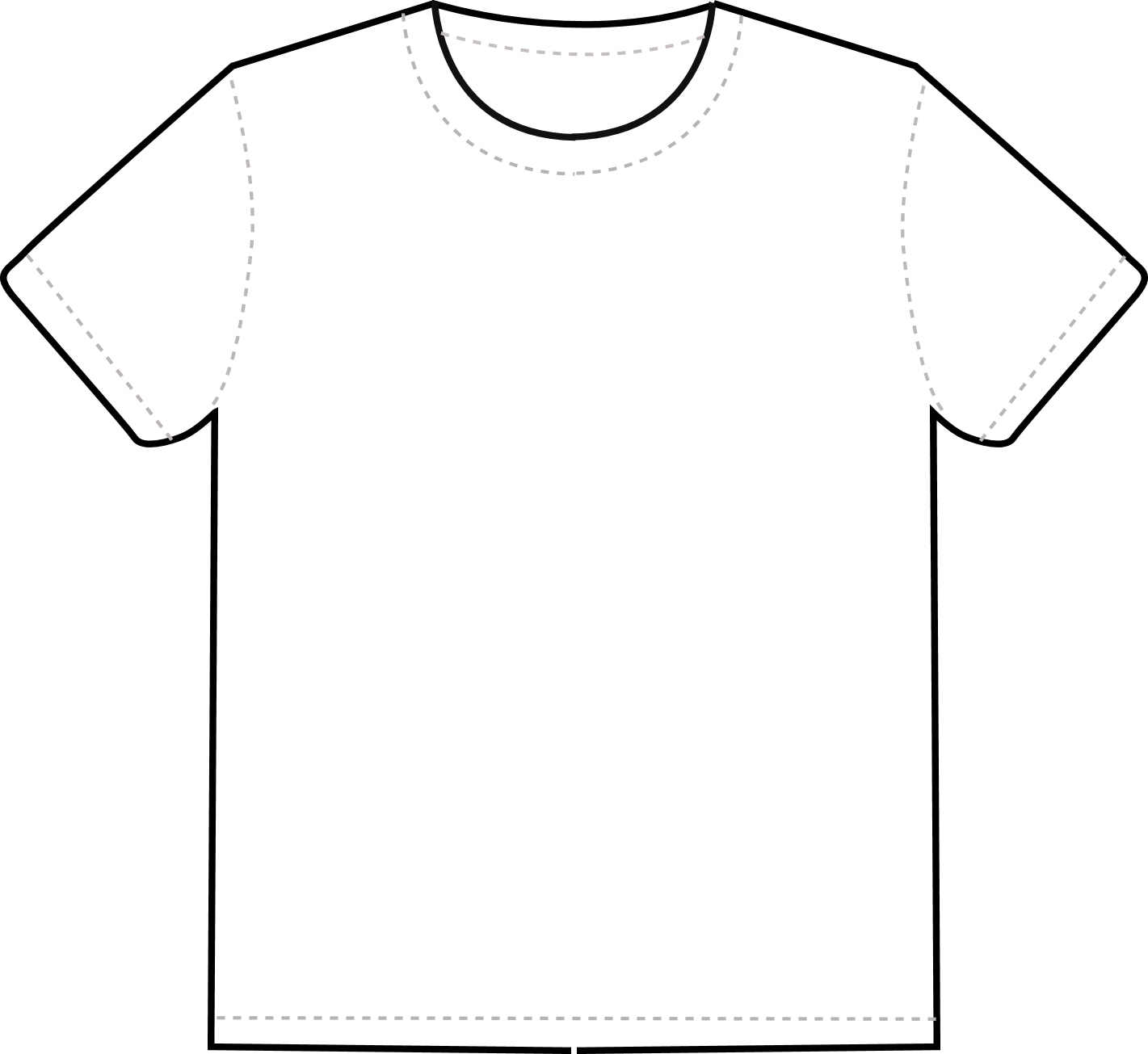 Tshirtt black and white clipart image royalty free stock Free T Shirt Template Printable, Download Free Clip Art ... image royalty free stock