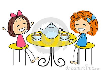 Tee trinken clipart graphic freeuse library Cartoon Women Drinking Tea Stock Photos, Images, & Pictures - 87 ... graphic freeuse library