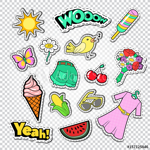 Teen buying ice cream clipart jpg transparent download Teenager Girl Fashion Stickers, Badges and Patches. Girlish ... jpg transparent download