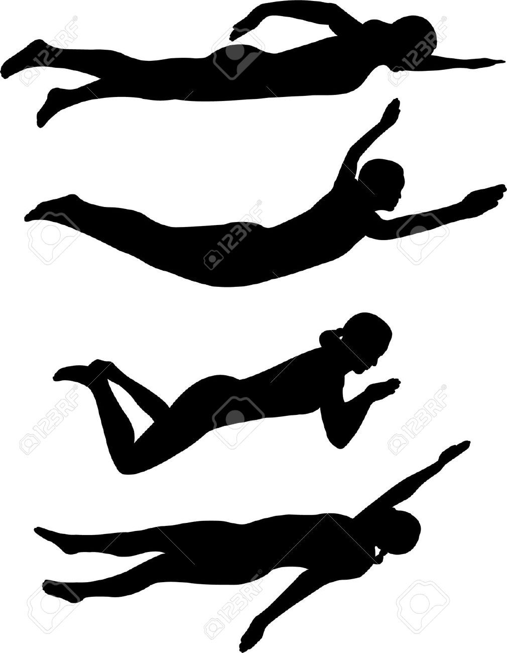 Teen girl swimming clipart black and white graphic library library Image result for Competitive Swimming Clip Art Silhouette ... graphic library library