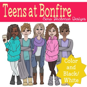 Teen mass clipart png black and white download Teen Girls Clipart Set png black and white download
