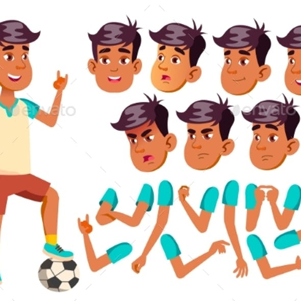 Teenage boy american football clipart clip black and white stock Teenagers Boy Graphics, Designs & Templates from GraphicRiver clip black and white stock