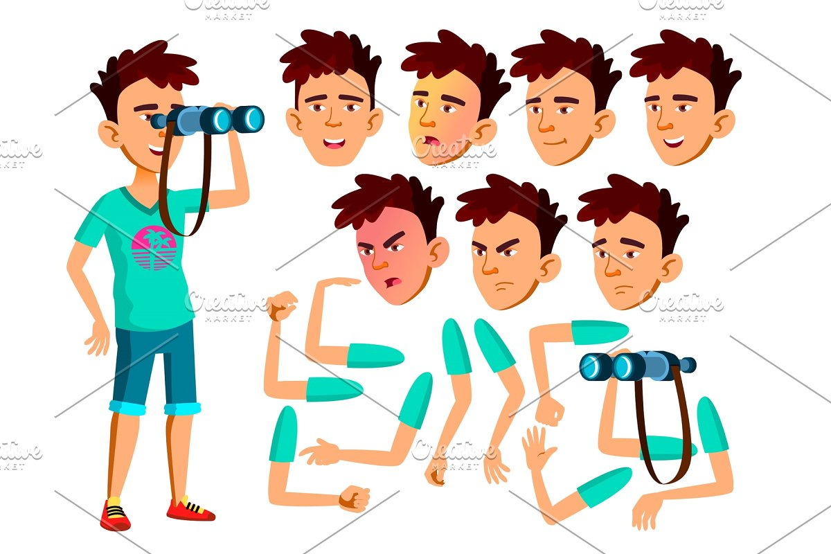 Teenage boy american football clipart graphic library library Asian Teen Boy Vector. Teenager graphic library library