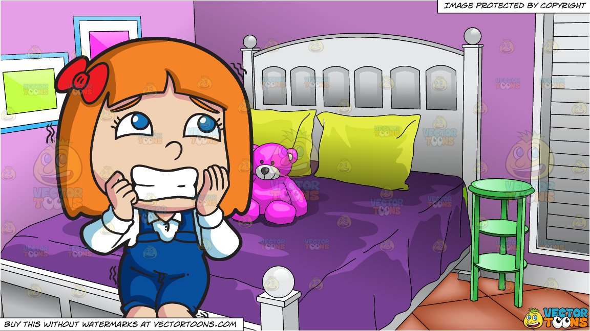 Teenage driving girl with scared mom clipart vector free download A Girl Looking So Afraid and Young Girls Bedroom Background vector free download