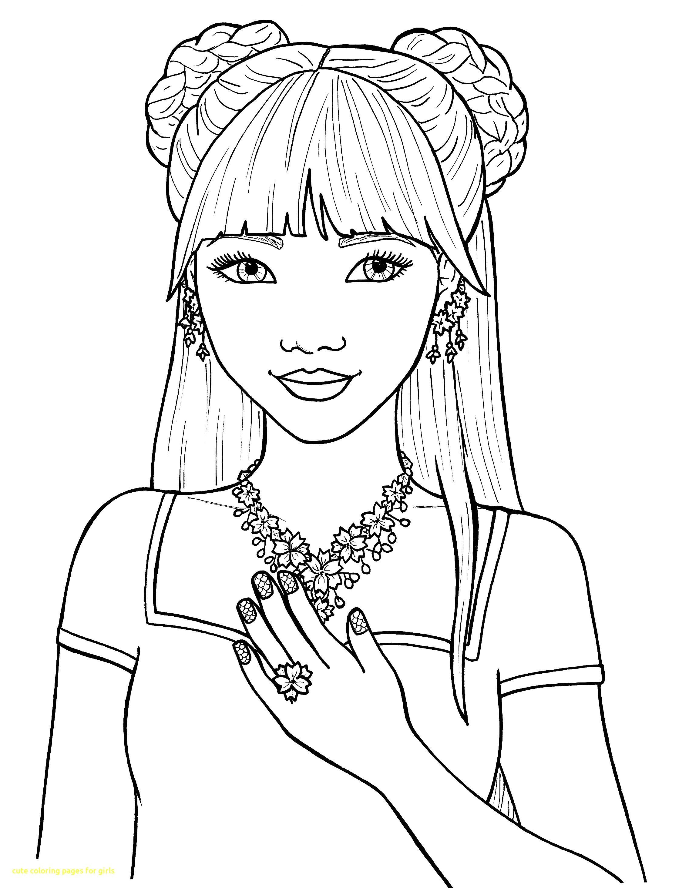 Girl body parts coloring page - ESL worksheet by ladelmar | 2929x2272