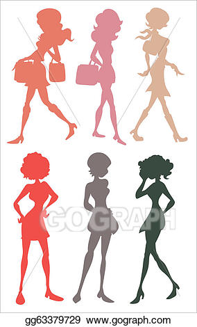 Teenage girl silhouette clipart image transparent library Vector Art - Teenage girls silhouettes. EPS clipart ... image transparent library