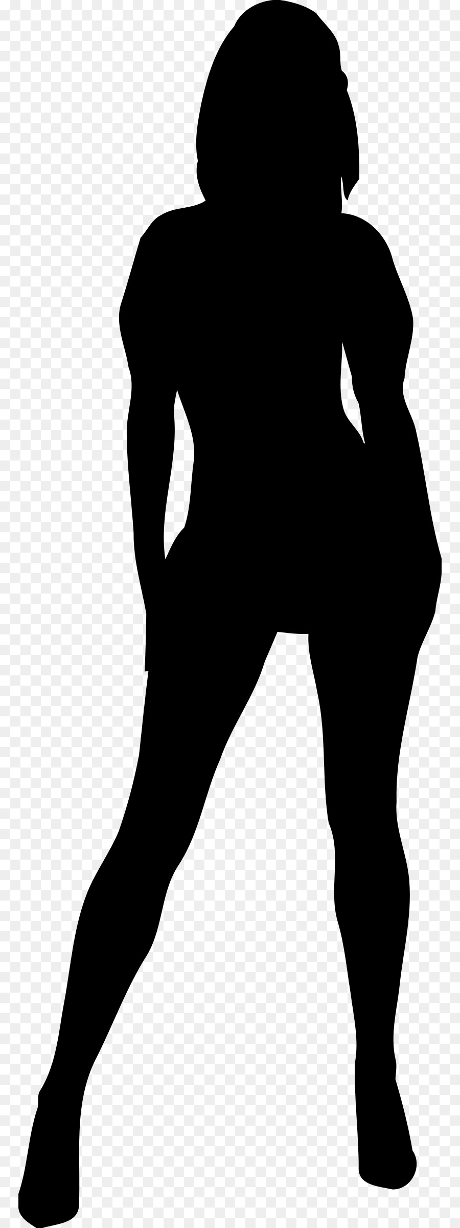 Teenage girl silhouette clipart graphic black and white library Free Teenage Girl Silhouette, Download Free Clip Art, Free ... graphic black and white library