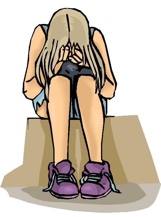 Teenage girl sitting down clipart jpg royalty free Teenage Girl Upset Clipart - Free Clipart jpg royalty free
