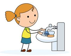 Teenage hygiene clipart clip black and white 7 Best Hygiene images in 2017 | Hand washing, Preschool ... clip black and white