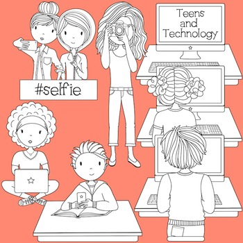 Teens and technology clipart svg transparent Teens and Technology - Secondary Teen Clipart svg transparent
