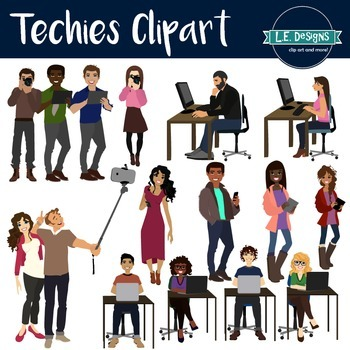 Kids using technology clipart clip free library Big Kids and Teens using Technology Clipart clip free library
