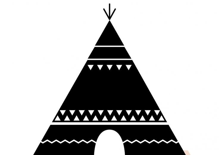 Teepee black and white clipart banner royalty free stock Teepee Clipart Black And White   Letters Example in Teepee ... banner royalty free stock