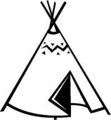Teepee black and white clipart jpg stock Teepee Clipart   Free download best Teepee Clipart on ... jpg stock