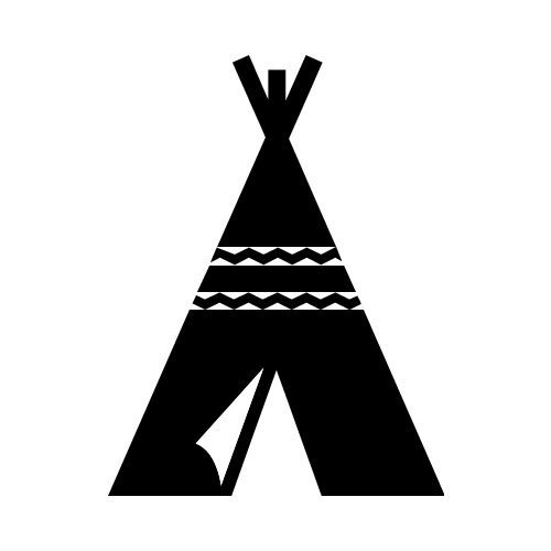 Teepee black and white clipart png Black and white teepee clipart 2 » Clipart Portal png