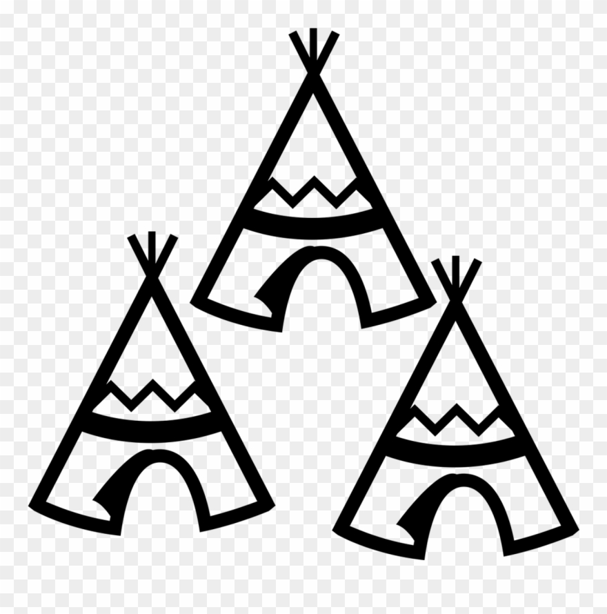 Teepee clipart graphic black and white stock Teepee Vector - Simple Teepee Clip Art - Png Download ... graphic black and white stock