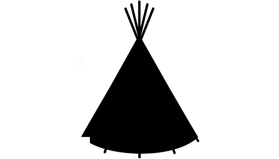 Teepee silhouette clipart svg freeuse Transparent Native American Teepee Silhouette Png ... svg freeuse
