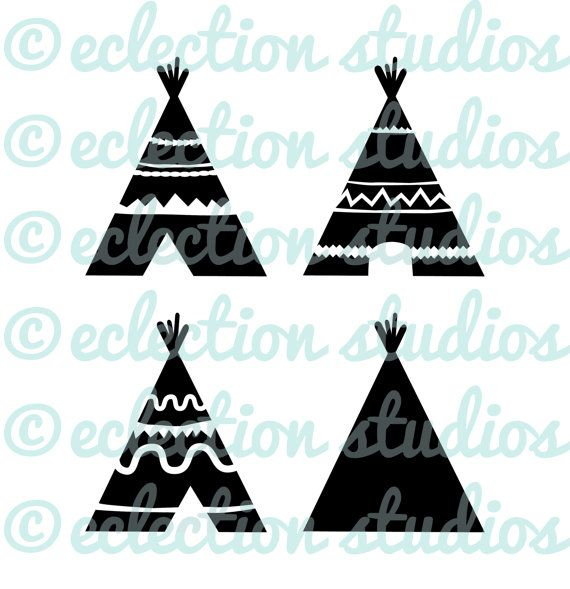 Teepee silhouette clipart jpg free library TeePee SVG, Indian, Aztec, TiPi, Native American, Tribe ... jpg free library