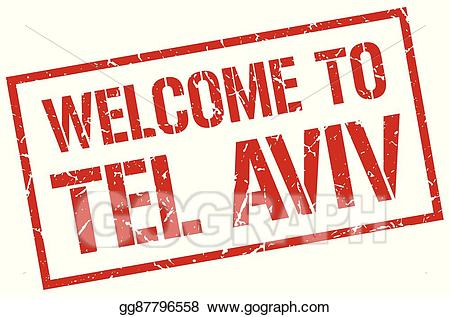 Tel aviv clipart picture transparent library Vector Stock - Welcome to tel aviv stamp. Clipart ... picture transparent library